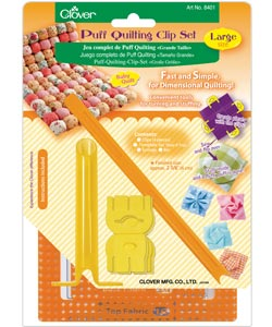 Clover 8401 Puff Quilting Clip Set